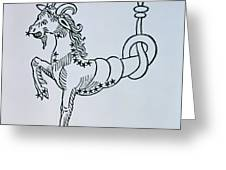Capricorn An Illustration Greeting Card by Italian School