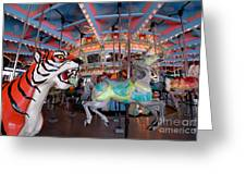 Carousel At Kennywood Park Pittsburgh Pennsylvania Greeting Card by Amy Cicconi