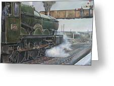 Castle Class 4.6.0. Greeting Card by Mike  Jeffries