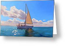 Catching The Wind Greeting Card by Dianne Panarelli Miller