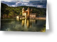Chateau De La Roche Greeting Card by Debra and Dave Vanderlaan