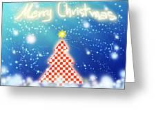Chess Style Christmas Tree Greeting Card by Atiketta Sangasaeng