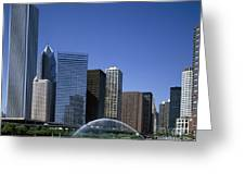 Chicago Skyline Greeting Card by Rafael Macia