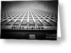 Chicago Union Station In Black And White Greeting Card by Paul Velgos