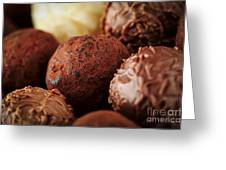 Chocolate Truffles Greeting Card by Elena Elisseeva