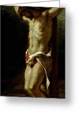 Christ On The Cross Greeting Card by Delacroix