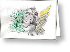 Christmas Angel Greeting Card by Laurie D Lundquist