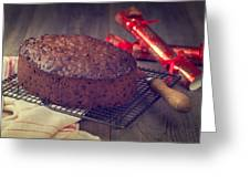 Christmas Cake Greeting Card by Amanda And Christopher Elwell