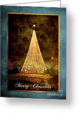 Christmas Tree In The City Greeting Card by Cindy Singleton