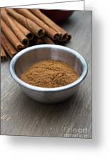 Cinnamon Spice Greeting Card by Edward Fielding