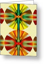 Circle Pattern 2 Greeting Card by Amy Vangsgard