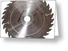 Circular Saw Blade Isolated On White Greeting Card by Handmade Pictures