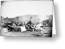CIVIL WAR: WOUNDED, 1862 Greeting Card by Granger