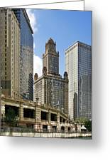 Classic Chicago -  The Jewelers Building Greeting Card by Christine Till