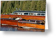 Classic Chris Craft Runabouts Greeting Card by Steven Lapkin