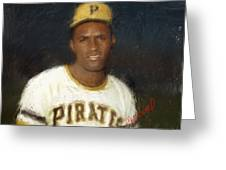 Clemente Greeting Card by Thomas Churchwell