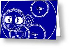 Clock Gears Blueprint Greeting Card by
