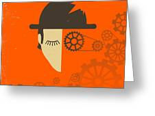CLOCKWORK ORANGE Greeting Card by Jazzberry Blue