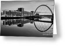 Clyde Arc Squinty Bridge Greeting Card by John Farnan