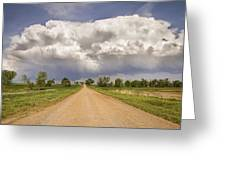 Colorado Country Road Stormin Skies Greeting Card by James BO  Insogna