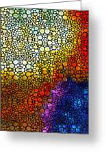 Colorful Stone Rock'd Abstract Art By Sharon Cummings Greeting Card by Sharon Cummings