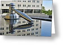 Columbus Ohio Justice Center Greeting Card by Frozen in Time Fine Art Photography