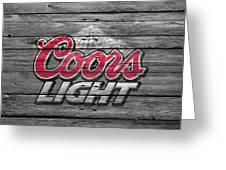 Coors Light Greeting Card by Joe Hamilton