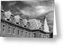 Cornell College Bowman Carter Hall Greeting Card by University Icons