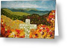 Cross Of The Colorful Ridges Greeting Card by Ralph Loffredo