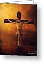 Crucifixcion Greeting Card by Jelena Jovanovic