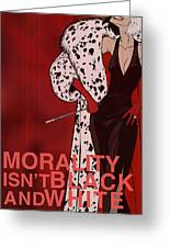 Cruella De Vil Greeting Card by Christopher Ables