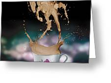 Cup Of Coffee Greeting Card by Kate Black