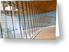 Curved Glass Wall Pattern Greeting Card by ELITE IMAGE photography By Chad McDermott