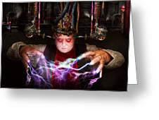 Cyberpunk - Mad Skills Greeting Card by Mike Savad