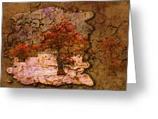 Cypress - Abstract Greeting Card by J Larry Walker