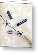 Dangerous Kisses Greeting Card by Joana Kruse
