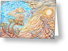 Day Of The Soul Greeting Card by Susan Schiffer