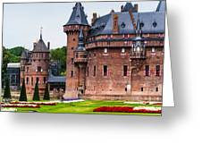 De Haar Castle. Utrecht. Netherlands Greeting Card by Jenny Rainbow