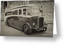 Dennis Lancet Vintage Bus Greeting Card by Steev Stamford