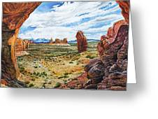 Double Arch Greeting Card by Aaron Spong
