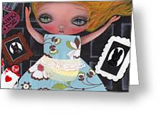Down The Rabbit Hole Greeting Card by  Abril Andrade Griffith