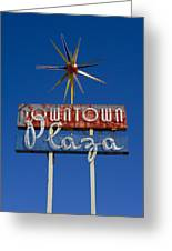 Downtown Plaza Greeting Card by Matthew Bamberg