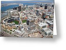 Downtown San Diego Greeting Card by Bill Cobb