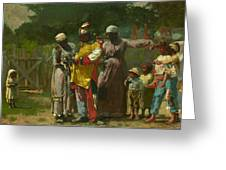 Dressing For The Carnival Greeting Card by Winslow Homer