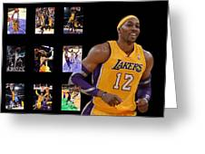 Dwight Howard Greeting Card by Joe Hamilton