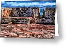 El Morro Fortress Old San Juan Greeting Card by Thomas R Fletcher