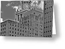Esperson Buildings Houston TX Greeting Card by Christine Till