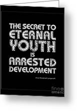 Eternal Youth Greeting Card by Kate McKenna