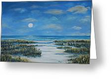 Evening Calm Greeting Card by Stanton Allaben