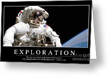 Exploration Inspirational Quote Greeting Card by Stocktrek Images